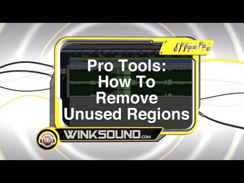 Pro Tools: How To Remove Unused Regions | WinkSound