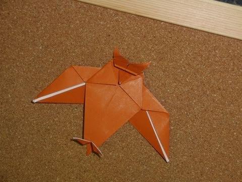 Daily Origami:  130 - Halloween - Owl