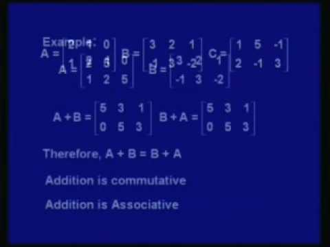 Mod-2 Lec-1 Matrix Algebra Part - 1