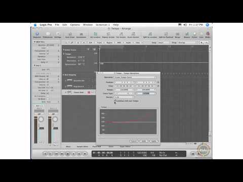 Apple Logic Pro 8 Ch 19 Tempo Operations Window Layouts Setting Curve Resolutions