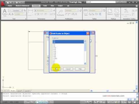 AutoCAD Tutorial - Using Annotation Tools