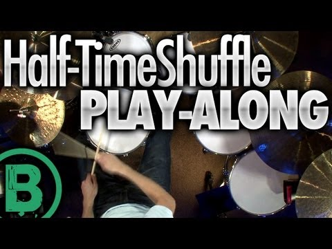 Half-Time Shuffle - Drum Play-Along