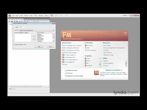 Creating a table of contents in FrameMaker | lynda.com tutorial