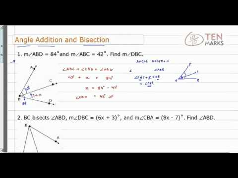Angle Addition and Bisection