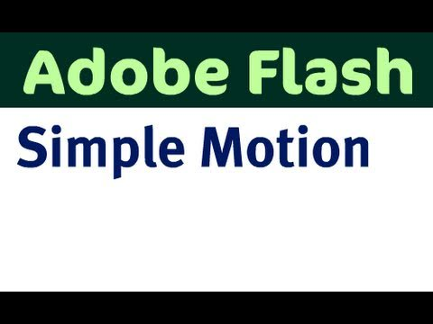 Simple Motion with Flash CS4
