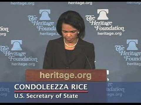 Condoleezza Rice on State Sponsors of Terrorism