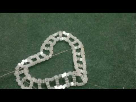 Beading4perfectionist : Miyuki Beaded heart for decorating tutorial