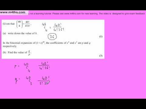 (Q5) Core 2 January 2011 Edexcel AS maths Past Paper