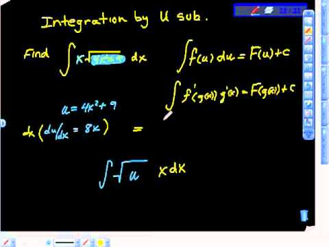 Integration by Change of Variable U Substitution PtII Ap Calculus AB