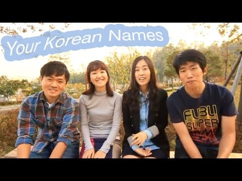 Your Korean Names!