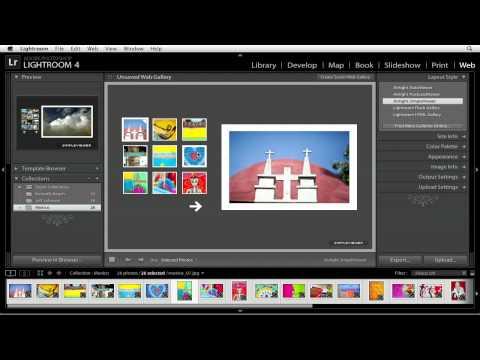 Using Web Gallery templates in Lightroom 4 | lynda.com tutorial