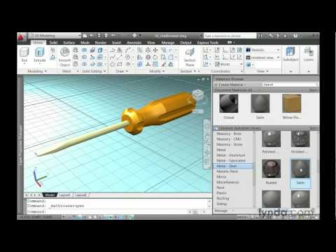 How to search AutoCAD for materials | lynda.com tutorial