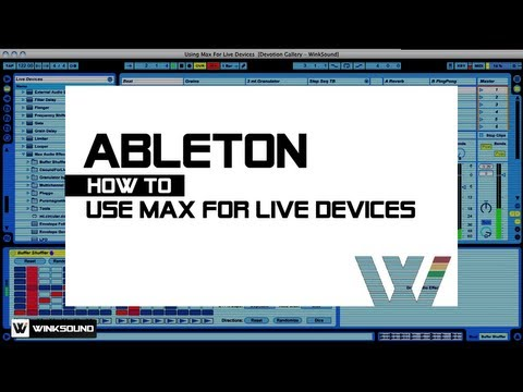 Ableton Live: How To Use Max For Live Devices | WinkSound