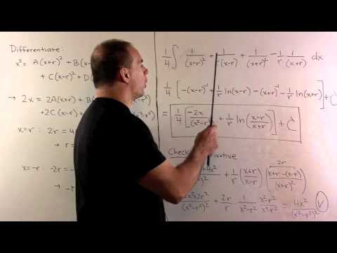 Partial Fraction Integral of x^2/(4x^2-36)^2