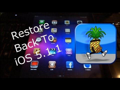NEW Redsn0w How To Restore iPhone 4S, iPad 3 & 2 From iOS 5.X.X To iOS 5.1.1