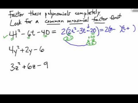 How to Factor Trinomials: with GCF