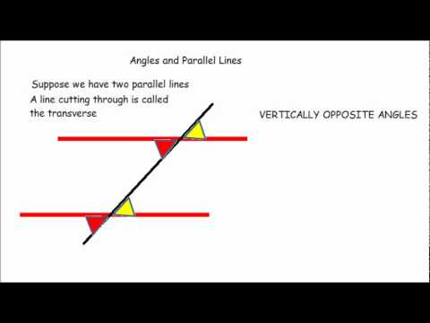 Corresponding, Alternate and Supplementary angles and parallel lines  -  GCSE maths revision