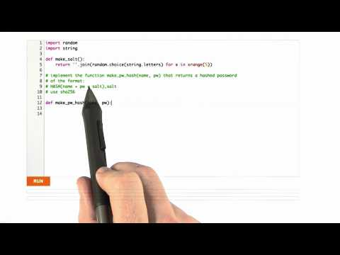 Hashing Salts - CS253 Unit 4 - Udacity