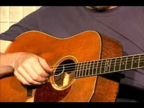 Guitar Lesson - How To Finger Pick in 4 Without a Flat Pick, (demonstration only)