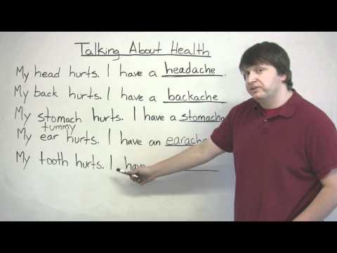 Speaking English - Talking about pains and aches