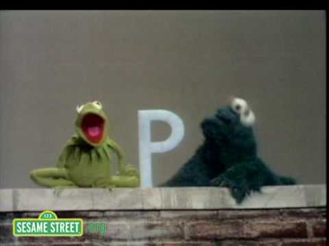 Sesame Street: Kermit Shows The Letter B to Cookie Monster