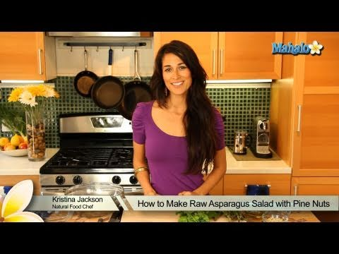 How to Make Raw Asparagus Salad with Pine Nuts