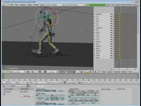 Blender Tutorial Series - Part 25 - Walk Cycle
