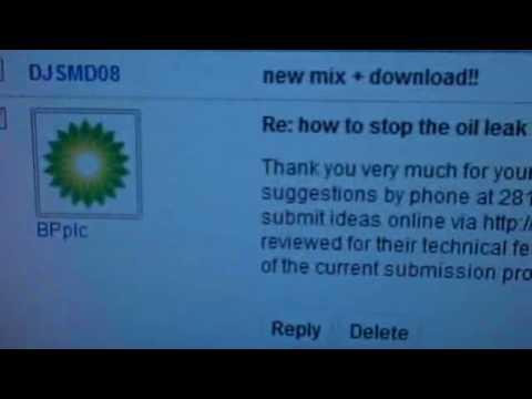 people do listen Re Gulf oil  leak