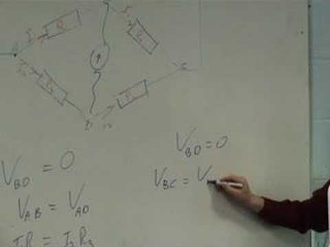 Theory of the Wheatstone Bridge (part 1 of 2)