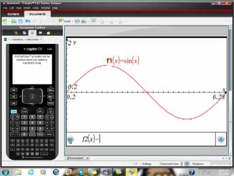 Ti-Nspire CAS CX Quick Graphs of Sine and Cosine cos(x) sin(x)