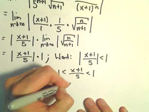 Interval and Radius of Convergence for a Series, Ex 8