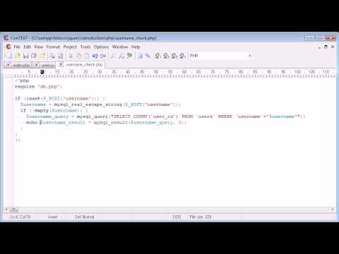 jQuery Tutorial - 170 - Check if a Username is Available