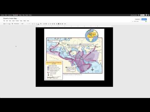 How to use Google Draw to annotate blank maps