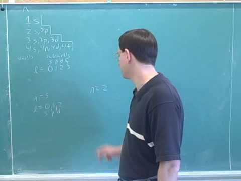 Quantum numbers. Intensity, photons (1)
