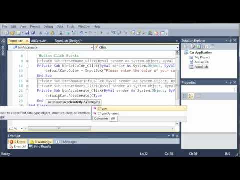 Visual Basic Tutorial - 109 - Car Part 4   Showing The Car Info