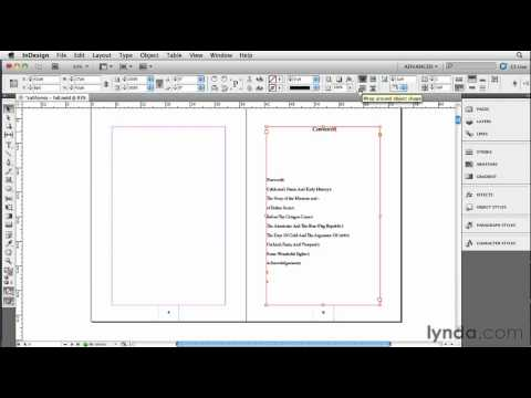 How to create an ebook table of contents | lynda.com tutorial