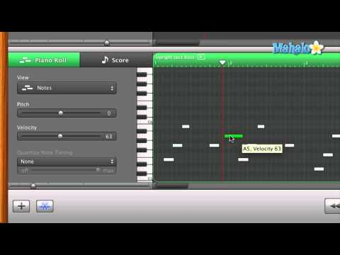 GarageBand Tutorial   Track Editor for MIDI   Pen Tool Overview