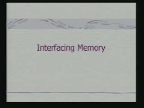 Lecture - 11 Memory