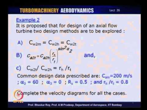 Mod-01 Lec-26 Tutorial 4 : 3D Flows in Axial Flow Turbines
