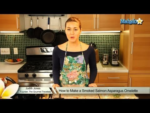 How to Make a Smoked Salmon Asparagus Omelette