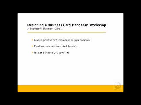 Illustrator & InDesign: Creating a successful business card | lynda.com