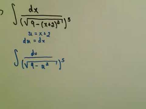 Trigonometric Substitution - Example 3 / Part 1