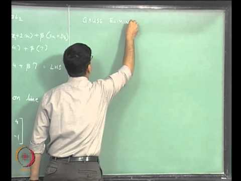 Mod-03 Lec-04 Linear Equations Part 2