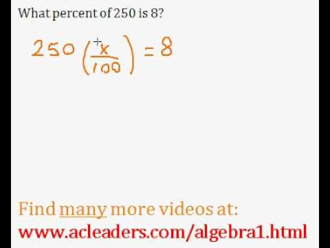 Basic Percent Word Problem - easy explanation!!! (pt. 5)