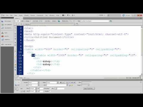 Working with Table Based Layouts in Dreamweaver CS5 - Part 3