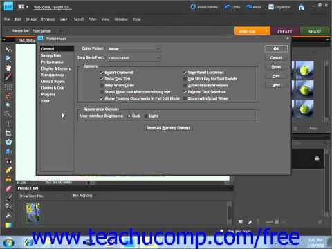 Photoshop Elements 9.0 Tutorial Setting Preferences Adobe Training Lesson 3.10