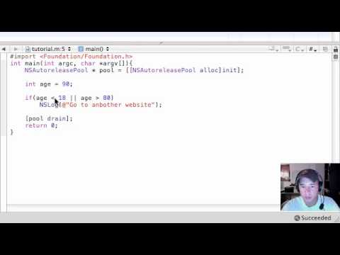 Objective C Programming Tutorial - 19 - Nested if Statements