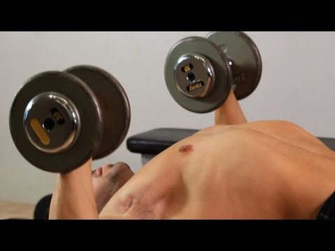 Stability Ball Dumbbell Press | Home Arm Workout for Men