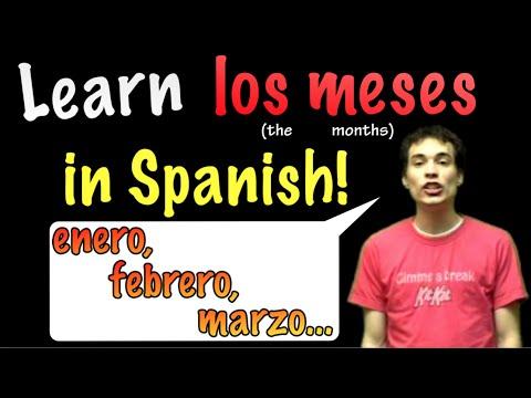 01009 Spanish Lesson - Months