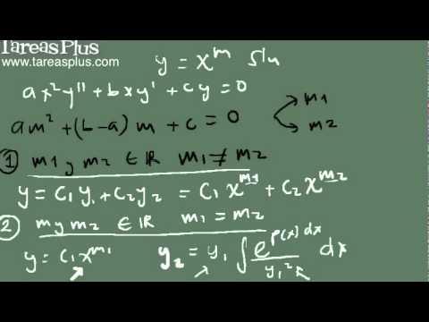 Ecuación de Cauchy - Euler (teoría método de solución)
